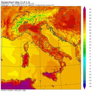 caldo venerdì 27