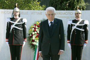 Sergio Mattarella in Friuli per il 40esimo anniversario del terremoto