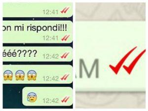 spunta rossa whatsapp