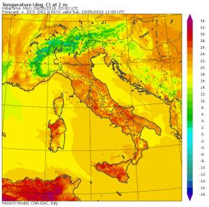 temperature massime domani
