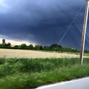 Il cielo di stasera in Veneto durante un temporale