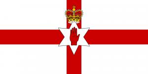 La bandiera dell'Irlanda del Nord