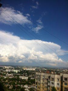 I cumulonembi temporaleschi osservati ieri in Ucraina