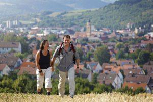 Wanderer über Bad Mergentheim©Bad_Mergentheim