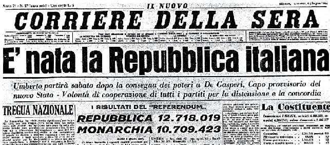 Festa della repubblica le migliori frasi immagini e for Nascita repubblica italiana
