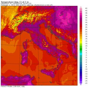 temperature domani ore 14