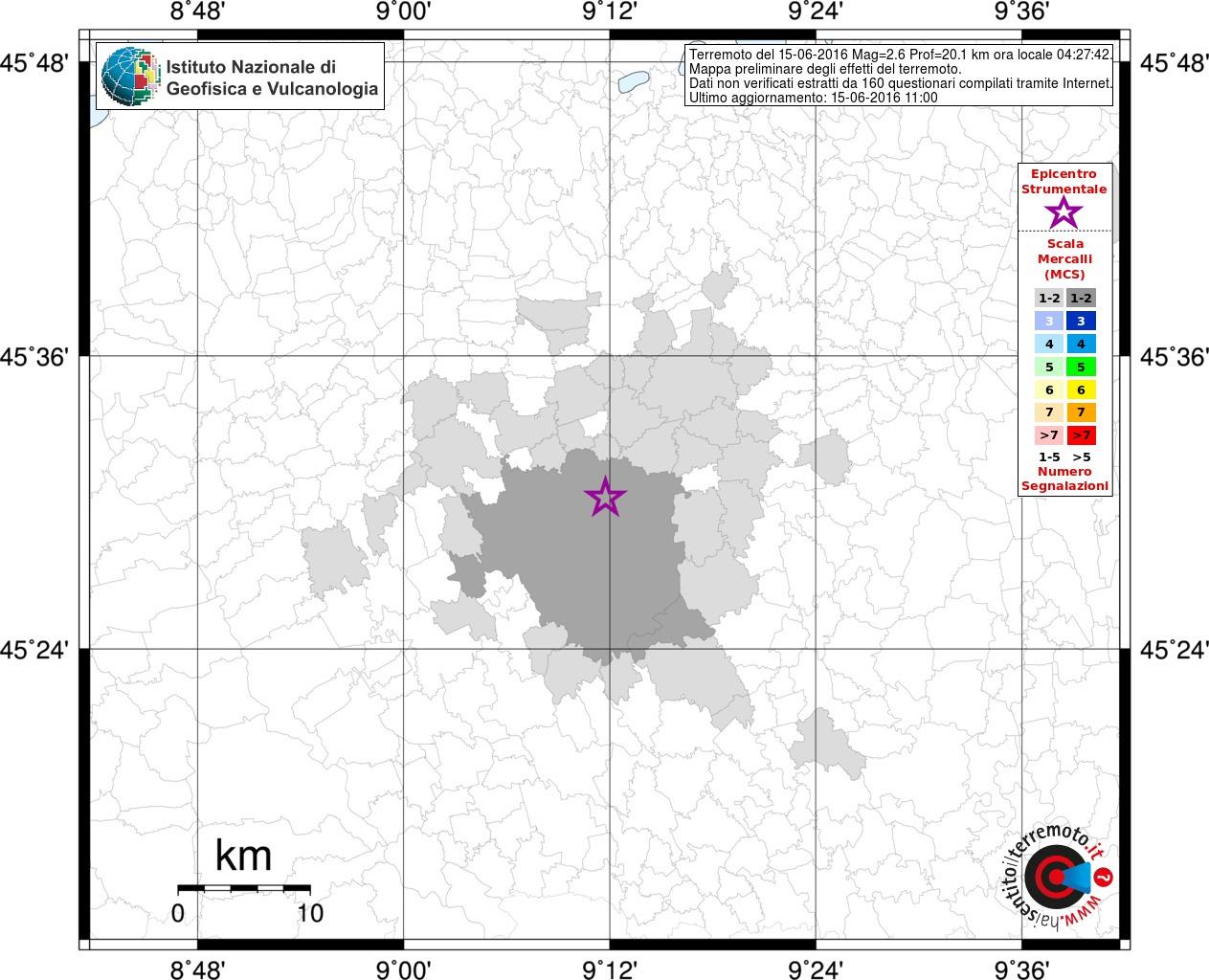 lampadari paderno dugnano : Terremoto magnitudo 2.6 a Milano: la scheda con gli effetti ...