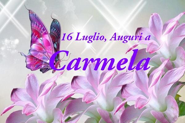 abbastanza 16 luglio: buon onomastico Carmine, Carmen, Carmelo e Carmela  AV41