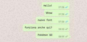font WhatsApp