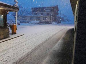 La neve di ieri sera a Livigno