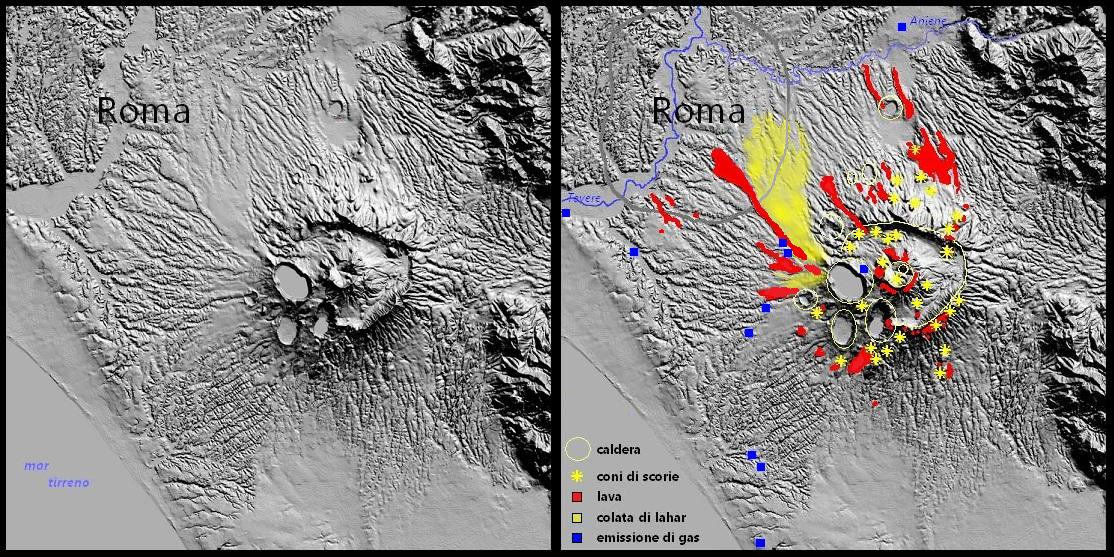 vulcano colli albani roma