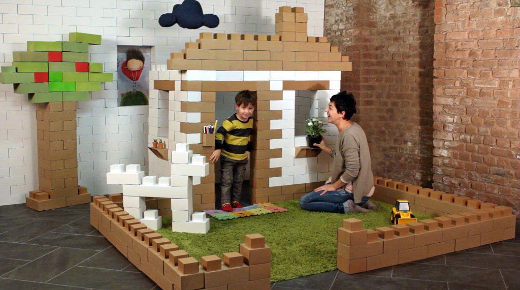 Arrivano gli edo i mattoni di cartone giganti per bambini
