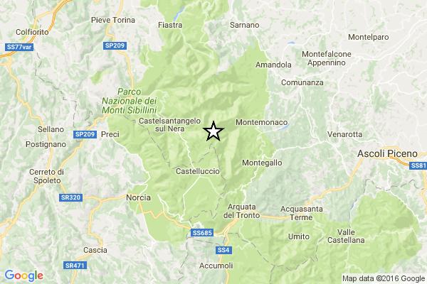 """Nuova forte scossa di terremoto avvertita nel """"cratere"""" [DATI INGV]"""