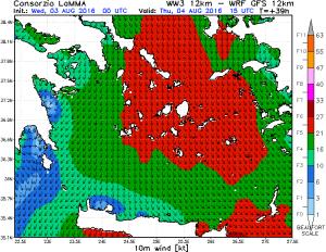 I forti venti da Nord attesi sul mar Egeo nei prossimi giorni