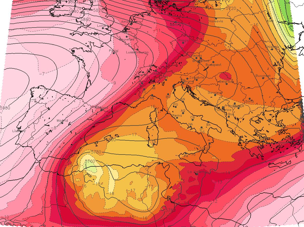 Previsioni Meteo: persiste l'anomalia Afro-Mediterranea. attenzione ai forti temporali in arrivo in Sicilia [MAPPE]