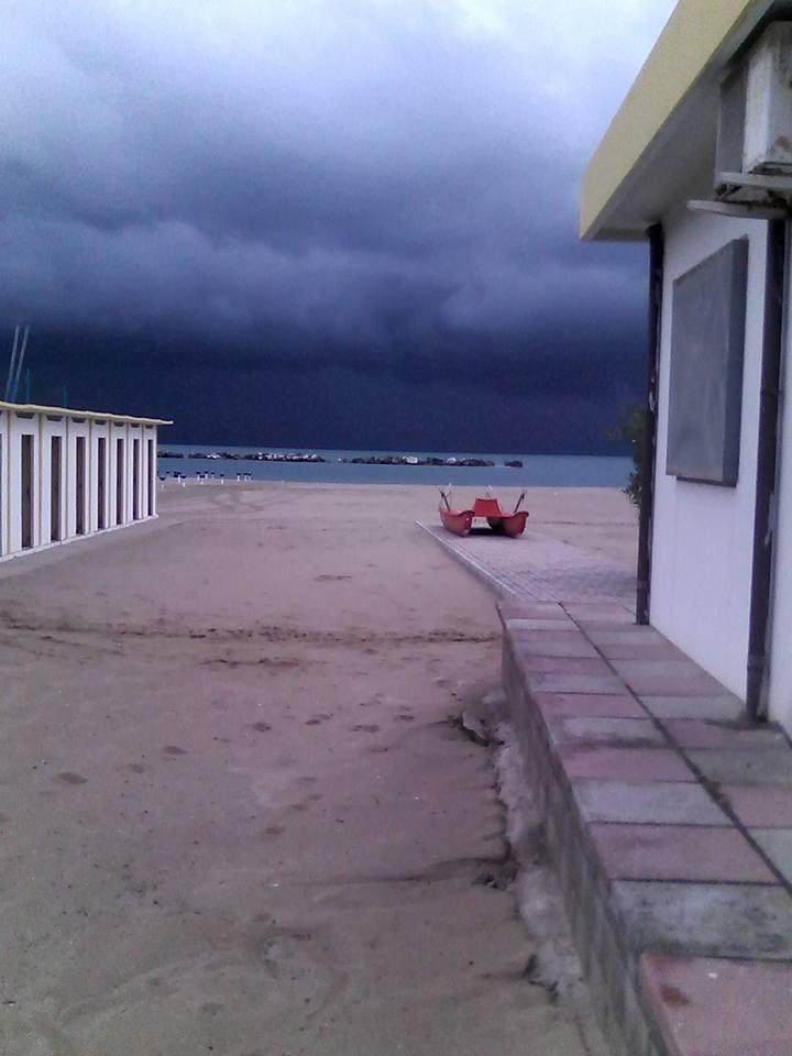 I temporali di stamattina sul Gargano