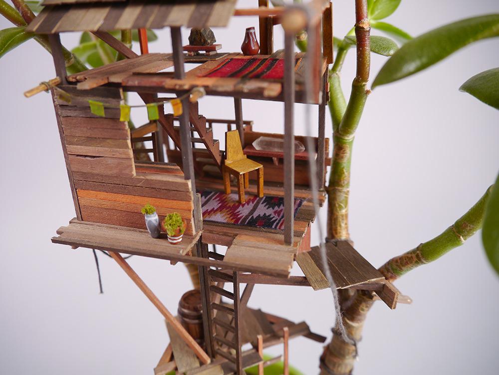 Ecco le mini case sull'albero dell'artista Jedediah Coreyn Voltz [FOTO]