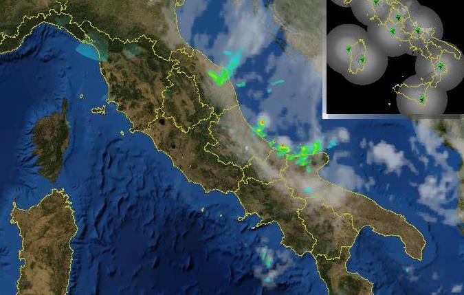 Maltempo, ancora forti piogge e temporali nella notte lungo le coste Adriatiche [MAPPE e DATI LIVE]