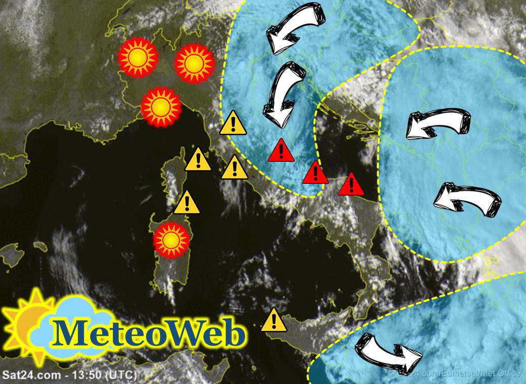 Allerta Meteo, il ciclone che porta l'autunno diventa sempre più cattivo: verso l'evoluzione in TLC, attenzione nelle Regioni Adriatiche e al Sud [LIVE]