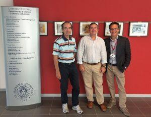 Da sinistra a destra i professori Giacomo Ruggeri, Fabio Bellina e Andrea Pucci