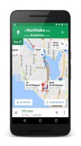 google maps comandi vocali