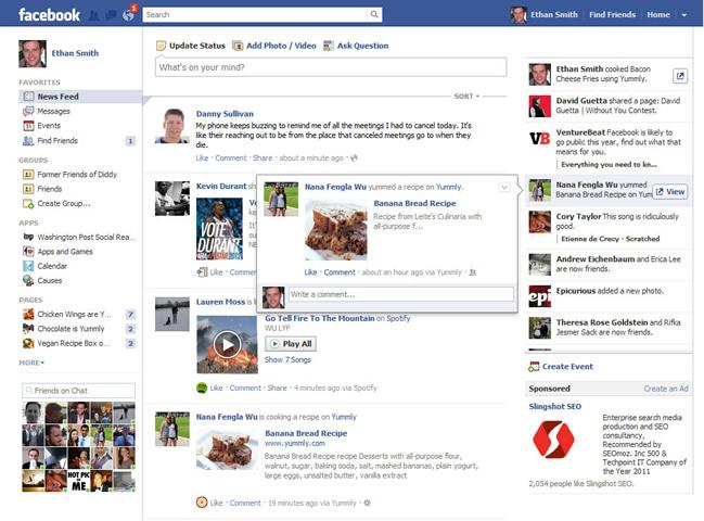 """Facebook: 10 anni fa Facebook inserì il """"news-feed"""", ovvero la """"Home"""" a scorrimento verticale"""