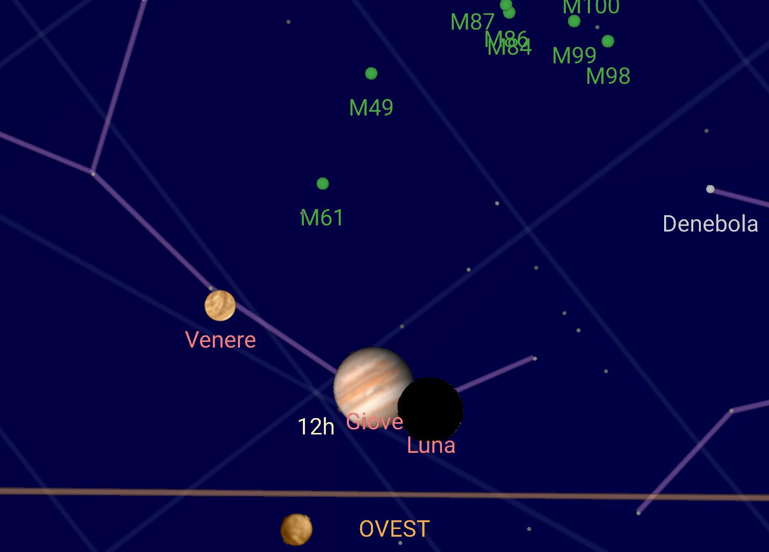Stasera naso all'insù per l'incontro di Luna, Giove e Venere