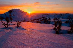 mountain_snow_sunset
