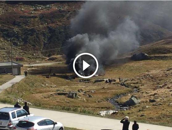 Elicottero Puma : Svizzera elicottero militare super puma precipita sul