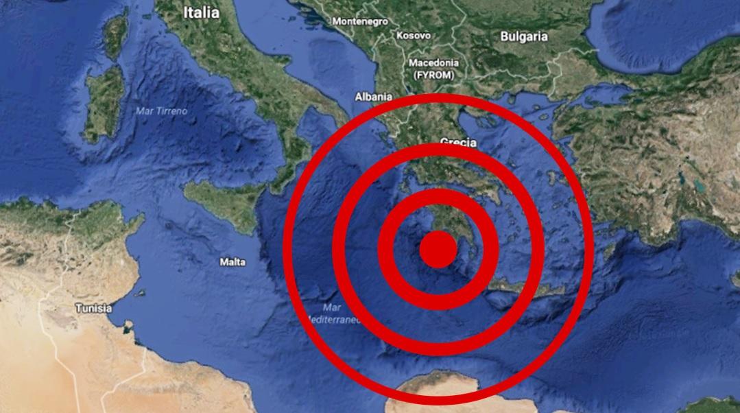 Terremoto di magnitudo 5.0 in Grecia avvertito stamattina anche al Sud Italia, in Puglia, Sicilia, Calabria e Basilicata