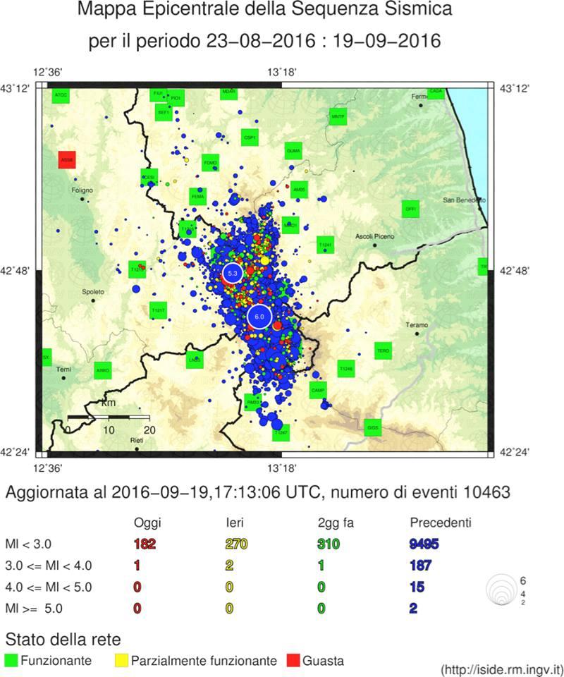 """Terremoto, esperto INGV: """"oltre 10.000 aftershocks, non si può escludere una replica forte o l'attivazione di una nuova faglia"""""""
