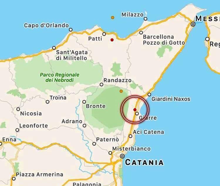 Ancora una scossa di terremoto in Sicilia: epicentro tra Giarre e Mascali [MAPPE e DATI INGV]