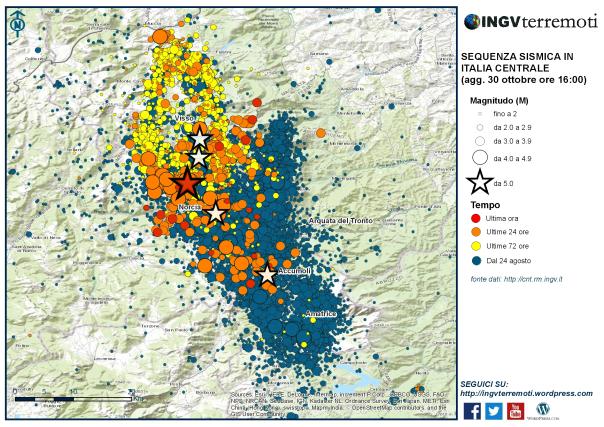 La mappa della sequenza dal 24 agosto