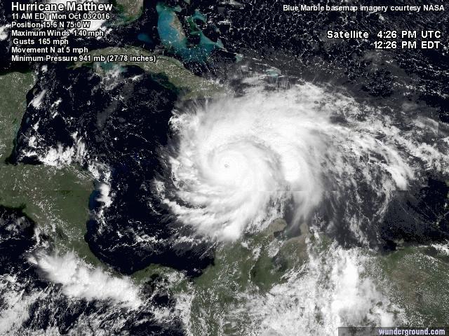 L'Uragano Matthew si abbatte su Haiti e subito si iniziano a contare le vittime [LIVE]