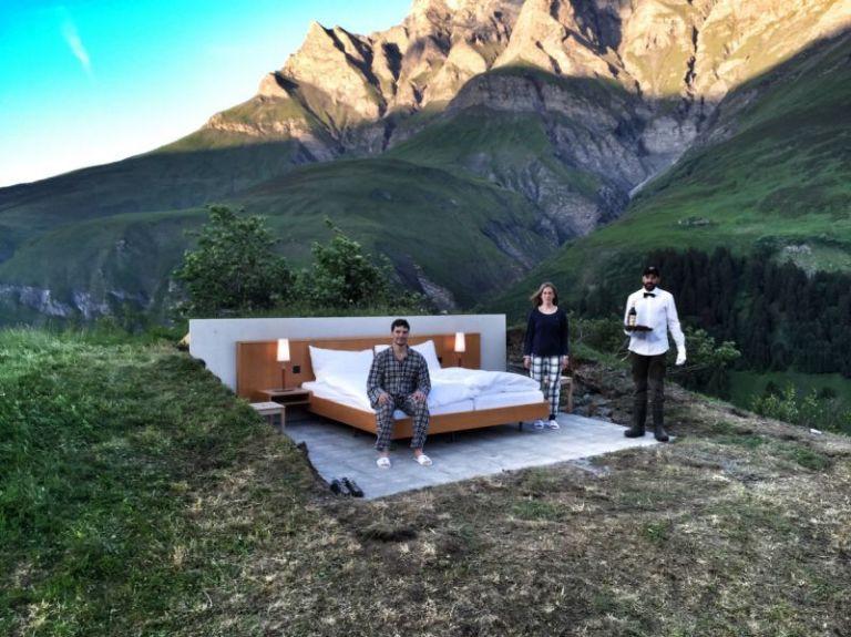 Null Stern: l'hotel senza pareti nel cantone svizzero dei Grigioni