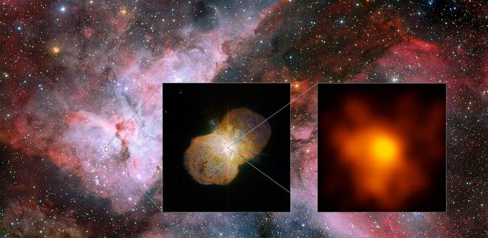 Astronomia: l'immagine di Eta Carinae alla massima risoluzione