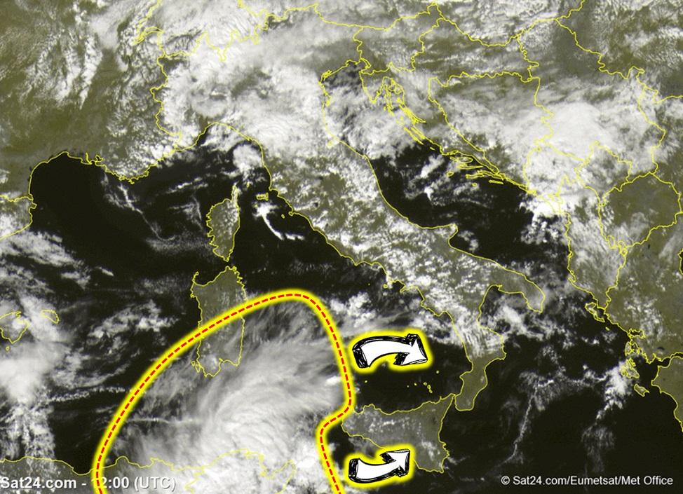 Allerta Meteo: forti temporali in arrivo al Sud mentre sul Centro/Nord avanza il freddo invernale [MAPPE]