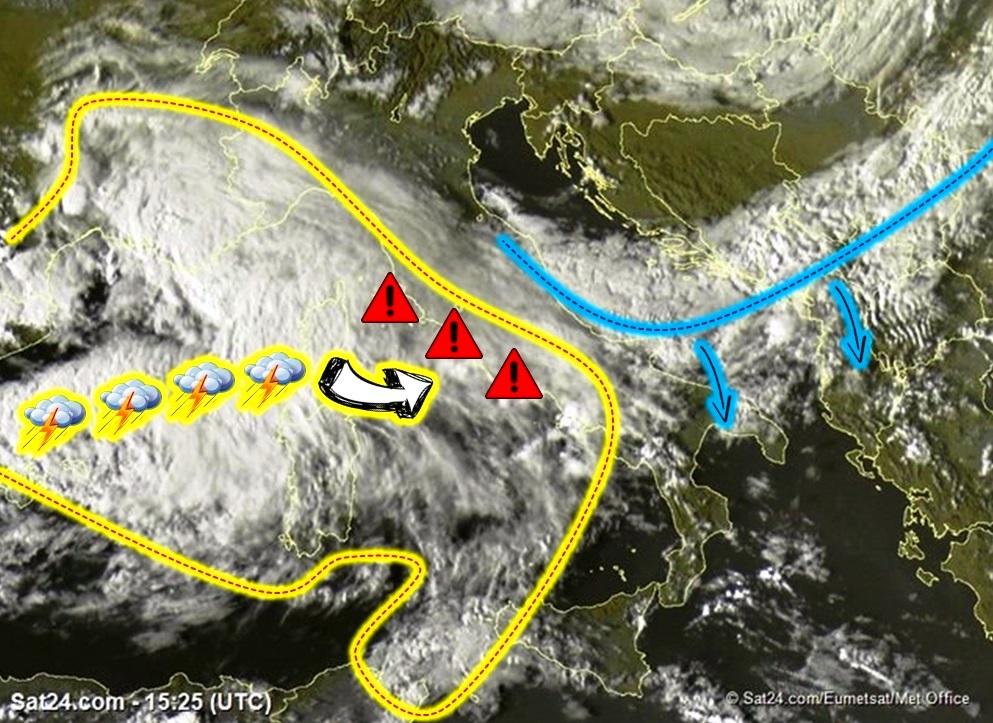Allerta Meteo, pericolosissima squall-line in arrivo sulle Regioni tirreniche: sarà una notte di maltempo estremo [LIVE]