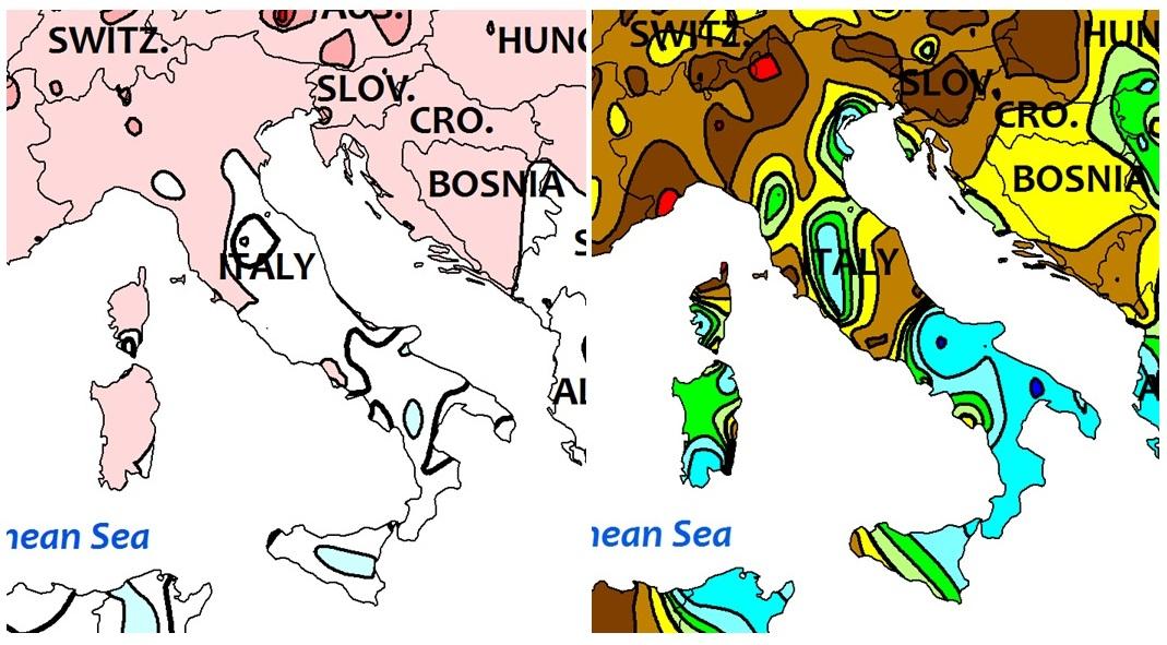 Clima, i dati NOAA su Settembre 2016: fresco e con piogge da record al Sud Italia, caldo e secco al Nord [MAPPE]