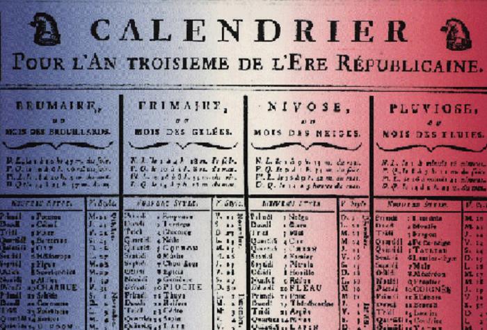 Calendario Repubblica.Calendari Quando In Francia L Anno Iniziava A Settembre E