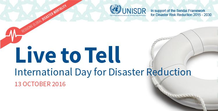 13 ottobre, oggi è la Giornata Internazionale per la Riduzione delle Catastrofi