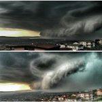 L'uragano Matthew a Lamezia Terme? No, è la squall-line tirrenica di stamattina: VIDEO PAZZESCO!!!