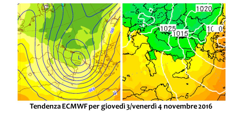 previsioni meteo novembre 2016