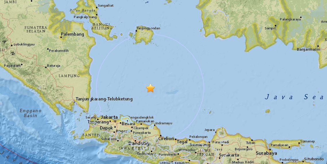 Terremoto Indonesia: scossa magnitudo 6.6 nel Mar di Giava