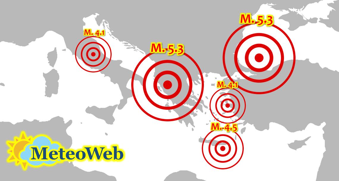 Terremoto, tante forti scosse nelle ultime 24 ore tra Italia, Grecia e Turchia. Sull'Appennino l'aftershock più forte da un mese e mezzo!