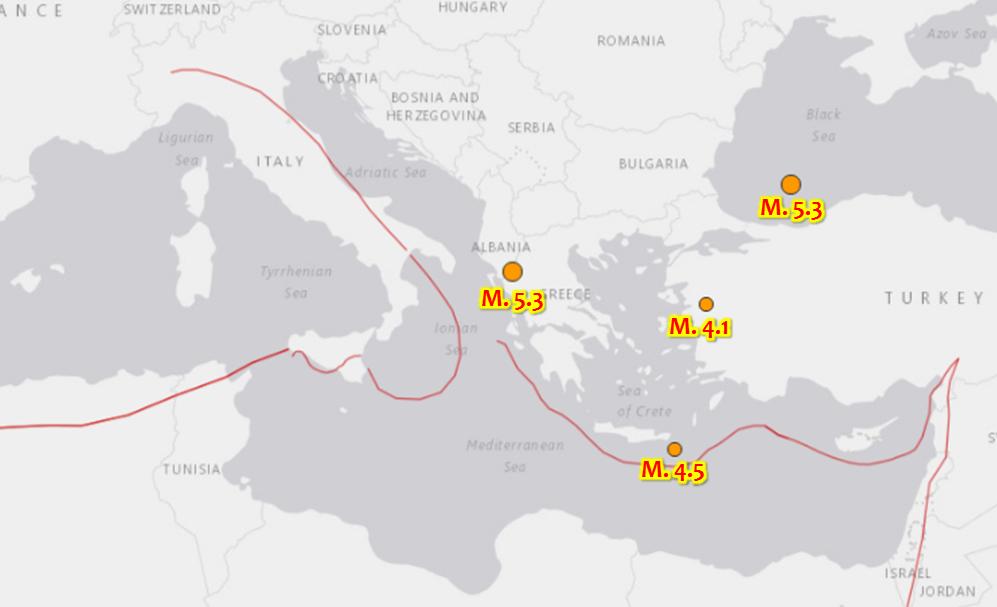 Terremoto, continuano le scosse in Grecia: nella notte più di 10