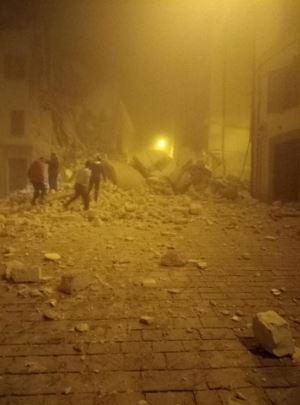 Ussita dopo i forti terremoti del 26 ottobre 2016