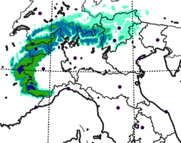Allerta Meteo Piemonte: abbondanti nevicate da domani sulle Alpi