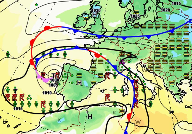 Allerta Meteo, ecco come si sta muovendo il ciclone: attenzione anche al Centro/Sud nelle prossime ore [MAPPE]