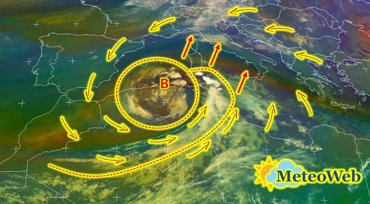 Allerta Meteo, ecco il ciclone Afro/Mediterraneo che spinge le grandi piogge sull'Italia: attenzione a venerdì e sabato